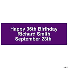 Personalized Solid Purple Banner - Small