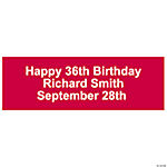 Personalized Solid Red Banner - Small