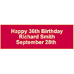 Personalized Solid Red Banner - Medium