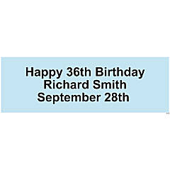 Personalized Solid Light Blue Banner - Small