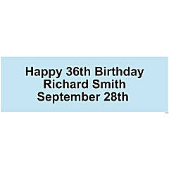 Personalized Solid Light Blue Banner - Medium
