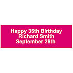 Personalized Solid Hot Pink Banner - Small