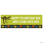 Personalized Dino-Mite Banner - Medium
