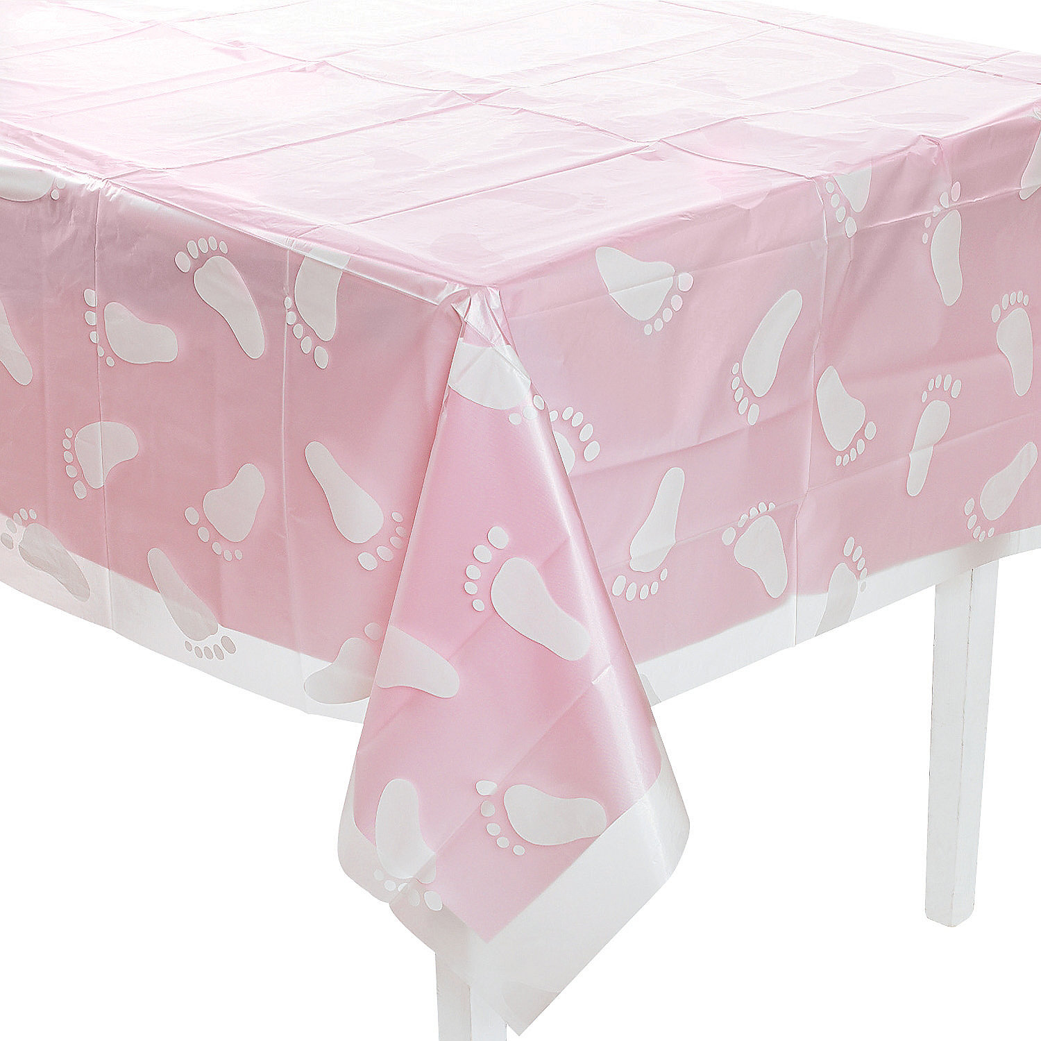 Clear Footprint Baby Shower Tablecloth Oriental Trading