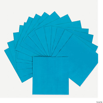 Neon Blue Luncheon Napkins