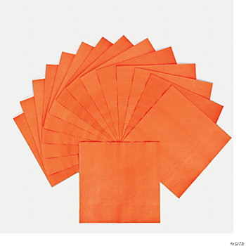 Neon Orange Luncheon Napkins