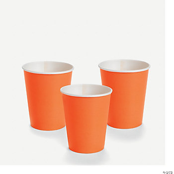 Neon Orange 9 oz. Cups