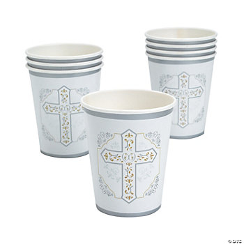 Religious Cross 9 oz. Cups