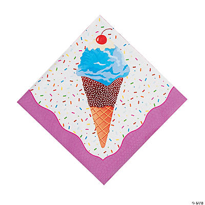 I Scream For Ice Cream Luncheon Napkins