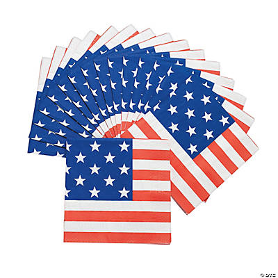 Patriotic Flag Luncheon Napkins