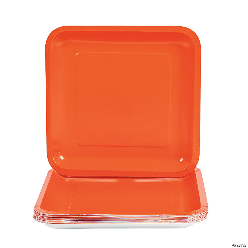 sc 1 st  Oriental Trading & Orange Square Paper Dinner Plates