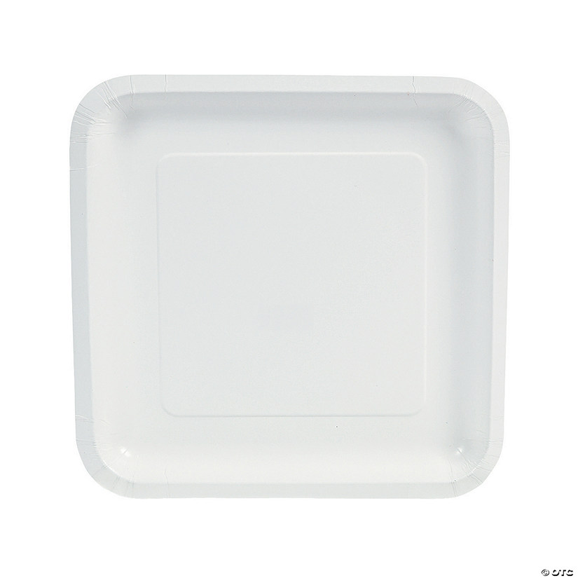 sc 1 st  Marry Me by Oriental Trading. & White Square Paper Dinner Plates