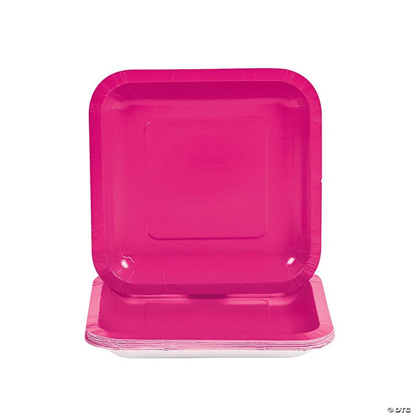 sc 1 st  Oriental Trading & Hot Pink Square Paper Dessert Plates