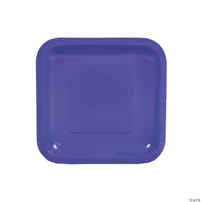 Purple Square Dessert Plates