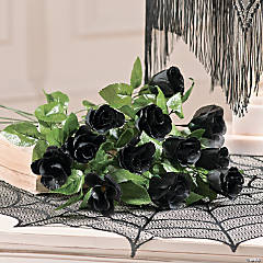 Black Rosebuds with Dew Drops