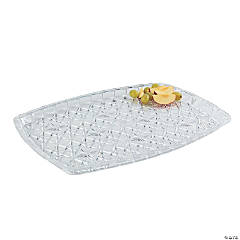 Diamond Cut Rectangular Tray - 16 1/2