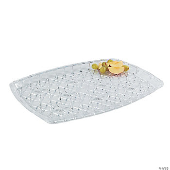 "Diamond Cut Rectangular Tray - 16 1/2""H x 22""W"