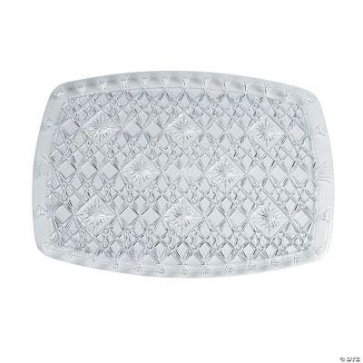 Diamond Cut Rectangular Serving Tray - Large
