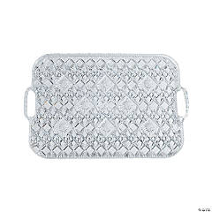 Diamond Cut Rectangular Tray with Handles - 19