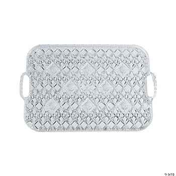 Diamond Cut Rectangular Tray with Handles