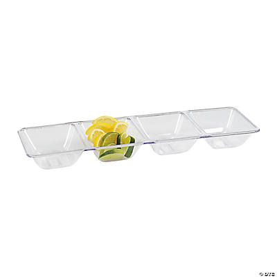Smooth Four Compartment Tray