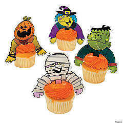"""Boo Bunch"" Character Cupcake Picks"