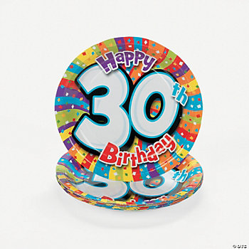 Milestone Birthday Dessert Plates - 30th