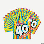 Milestone Birthday Beverage Napkins - 40th