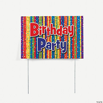 "Milestone ""Birthday Party"" Yard Sign"