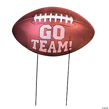 """Go Team!"" Football Yard Sign"
