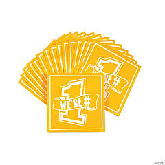 Pennant Beverage Napkins - Yellow