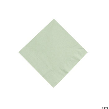 50 Solid Color Beverage Napkins - Sage Green