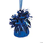 12 Blue Metallic Balloon Weights