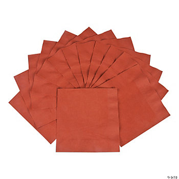 50 Solid Color Luncheon Napkins - Brick