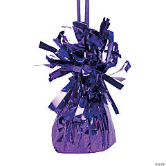 12 Purple Metallic Balloon Weights