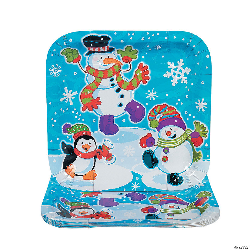 Snowman Dinner Plates  sc 1 st  Oriental Trading & Snowman Dinner Plates - Discontinued