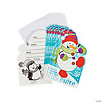 Snowman Invitations - 8 pcs.