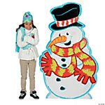 Snowman with Scarf Stand-Up