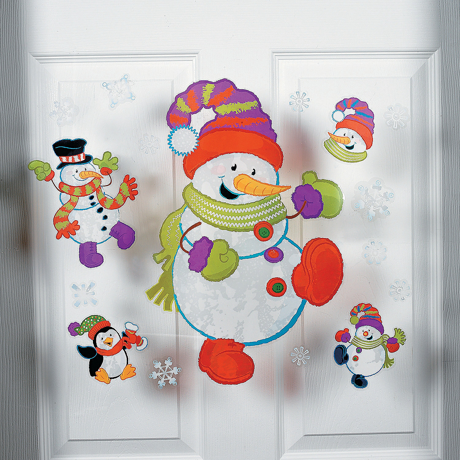 Large Snowman Window Clings Oriental Trading Discontinued