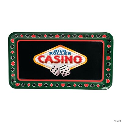 "6 Pc. ""Casino"" Disposable Tray Set"