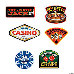 Casino Sign Cutouts