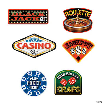 6 Casino Sign Cutouts