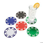 12 Poker Chip Coasters