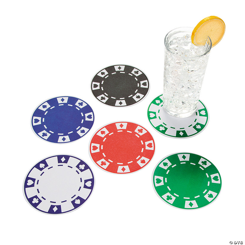 Poker chip drink coasters poker jugadas orden
