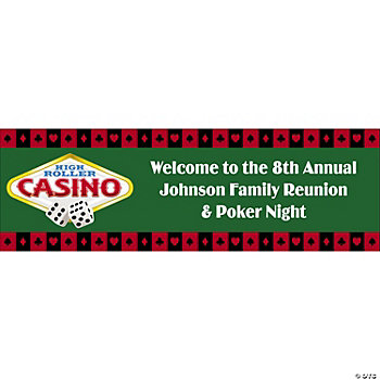 Personalized Casino/Poker Night Banner