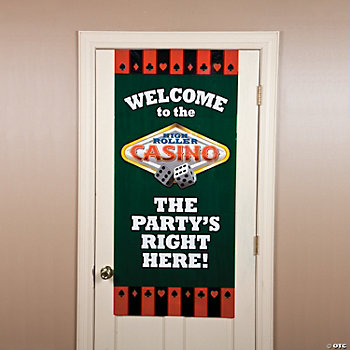 "Casino ""The Party's Right Here"" Door Cover"