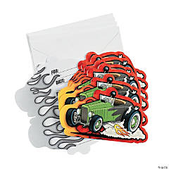 8 Race Car Invitations