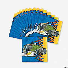 16 Race Car Beverage Napkins