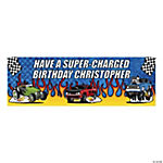 Personalized Race Car Banner - Small