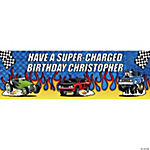 Personalized Race Car Banner - Large